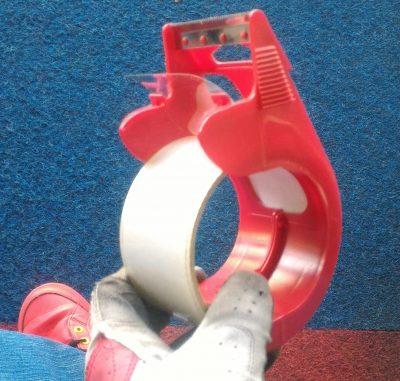 フライヤー実験に貼るテープ